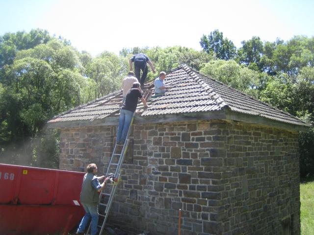 Beginn des Umbau (Abbrucharbeiten)